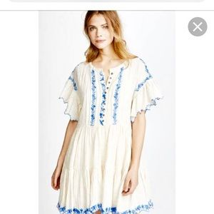 💙FREE PEOPLE💙 Santiago Embroidered Mini Dress